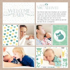Layout by Anna Rose. Features the Hello Baby Boy Edition