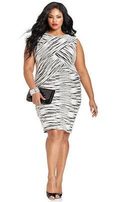 20 Plus-Size Black and White Dresses