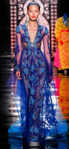 """I just want to take you to my world,"" read the show notes at Reem Acra's Spring 2016 show. Acra, a Lebanon native, wanted to show who she was in this collection by combining her past and present life. She transplanted us to a Middle Eastern glamour fairy tale straight out of 'One Thousand And One Nights', where some of the gowns were definitely fit for a queen."