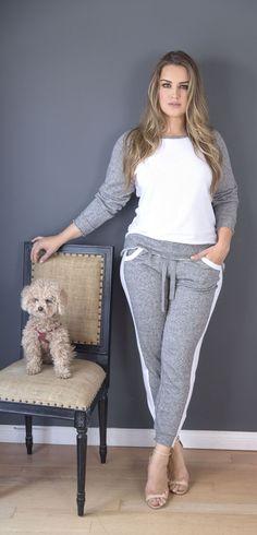 >> Gorgeous Plus Measurement Heather Gray Jogger Pants #standardsandpractices #plus #measurement #curvy #w...