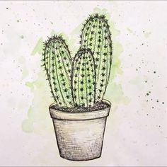 Here's a little video of me drawing/painting a cactus! I know a cactus is a bit…