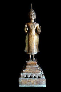 18C Bronze Laos Buddha