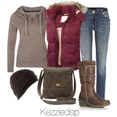 Untitled #2091, created by kezziedsp on Polyvore, but switch the jeans for a jean skirt.