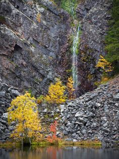 It is taken at the Pyhä-Luosto national park in Finnish Lapland. Autumn Scenes, Photo Location, Four Seasons, Beautiful Places, National Parks, Lapland Finland, Heaven, Hiking, Waterfalls
