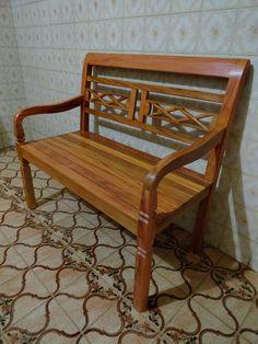 Jogo De Banco Em Madeira De Demolição (peroba Rosa) - R$ 1.090,00