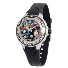 """Marvel Comics Kids' MA0108-D380-Black Marvel Thor Spectrum Watch Marvel Comics. Save 17 Off!. $29.00. Uni-directional rotating bezel. Kid's marvel """"spectrum"""" watch with marvel character on the dial. Silvertone luminous hands. Black rubber strap. Water-resistant to 99 feet (30 M)"""