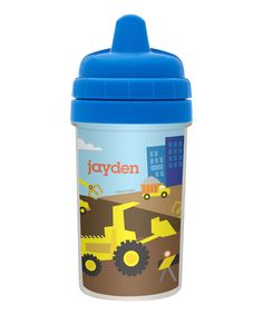 Look at this #zulilyfind! Construction Personalized Sippy Cup by Spark & Spark #zulilyfinds