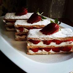 #milföy tatlısı #strawberry #çilek #tatli #yummy #delicious