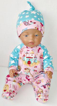 Puppen & Zubehör Sonstige Babypuppen *Puppenkleidung für Baby Born*Puppenstrampler* Neu 43cm *Strampler* handgefertig