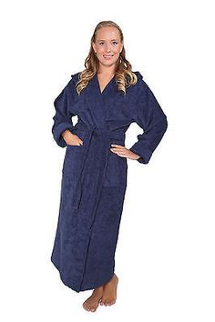 WOMENS LUXURY 100% PIMA COTTON TERRY TURKISH BATHROBE FULL LENGTH LONG ROBE dbf0432d5
