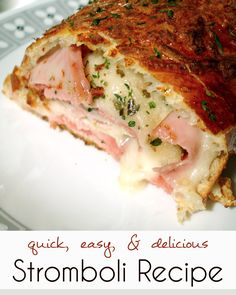 Easy and Yummy Stromboli Recipe. Bonnie - this is another one of Amanda's a-MAH-zing recipes. The one I was telling you about.