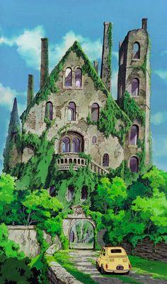 Lupin III - Cagliostro's Castle (Miyazaki movie, before Ghibli). Scenery Wallpaper, Background, Anime Scenery, Fantasy Landscape, Studio Ghibli Background, Pictures, Animation Background, Scenery, Aesthetic Anime