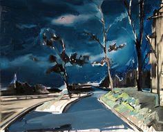 'Zawsze jest jakaś burza', 2015, 85x105 cm, olej na płótnie