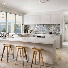 Scandinavian Kitchen by WA Country Builders Home Decor Kitchen, Country Kitchen, Kitchen Interior, Kitchen Dining, Space Kitchen, Kitchen Ideas, Beach Kitchens, Home Kitchens, Country Builders