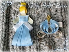 Princess and Carriage hair clip set!  Other princesses and different styles available on fb at http://www.facebook.com/home.php#!/pages/Ella-Bella-Bows/395431291322