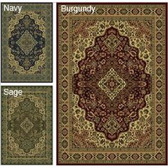 @Overstock - Instantly update your home decor with this traditional medallion design rug Floor rug is made of durable and easy to clean olefinArea rug is rich in burgundy, navy and sage colors with accents of beige and cremehttp://www.overstock.com/Home-Garden/Caroline-Medallion-Area-Rug-910-x-1210/3521708/product.html?CID=214117 CAD              377.62