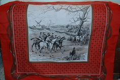 Vintage Jim Renoir Scarf - The Horses Race - Made in Italy - Signed Scarf- Great Fashion Statement on Etsy, $25.00