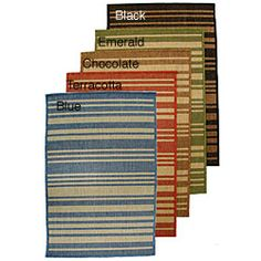 @Overstock - Add a touch of elegance to your home decor with this chic rug Casual rug is UV stabilized and can be used in outdoor settings Indoor/outdoor area rug features a colorful barcode stripe designhttp://www.overstock.com/Home-Garden/Barcode-Indoor-Outdoor-Area-Rug-2-x-76/3828967/product.html?CID=214117 $26.99