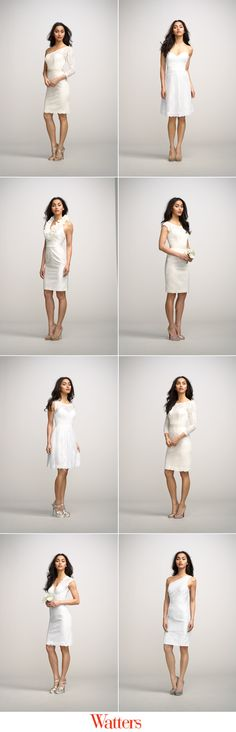 New little white dress designs from Watters Encore Collection #littlewhitedress #fashion