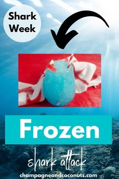 Is there anything tastier than a slushie on a hot day? Our Frozen Shark Attack Cocktail is the ideal summer drink. Made with blue curacao and powerade, it's a tasty drink to sip. #sharkattack #frozendrinks #slushie #sharkweek #july4th #bluedrinks Cocktails With Blue Curacao, Blue Drinks, Summer Drinks, Blue Hawaiian, Frozen Drinks, Shark Week, Slushies, Beach Themes, Rum