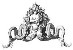 Siren Tattoo, Tattoo Mermaid, Mermaid Art, Mermaid Paintings, Vintage Mermaid, Mermaid Tails, Esoteric Art, Medieval Art, Gravure