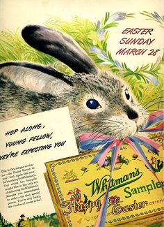 the Easter bunny. vintage ad.