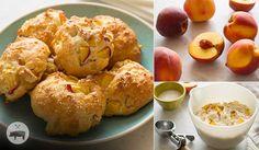 Fresh Peach and Yogurt Drop Biscuits #finefoodinspiration