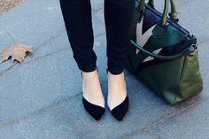 Aquazzura heels and Elena Ghisellini bag.