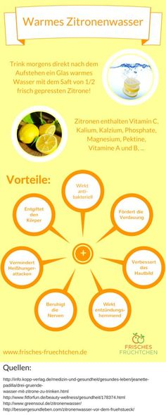 "Advantages of warm lemon water - even if the source ""Kopp -. - Advantages of warm lemon water – even if the source ""Kopp-Verlag"" shows a slight gag - Healthy Drinks, Healthy Tips, How To Stay Healthy, Healthy Recipes, Fitness Workouts, Fitness Diet, Health Fitness, Warm Lemon Water, Le Diner"