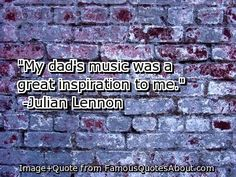 Julian Lennon.and it was haunting to listen julian sing and realize just how much he sounded like his dad.
