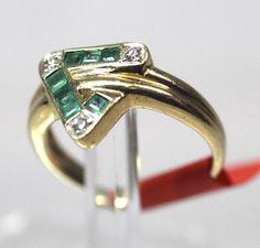 Smaragdring 585 Gold