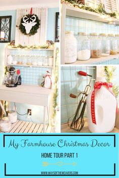 If you are in need of some farmhouse Christmas decor ideas, take a look at my home tour!