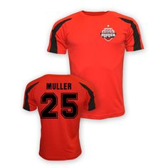 Thomas Muller Bayern Munich Sports Training Jersey (red) #Sport #Football #Rugby #IceHockey