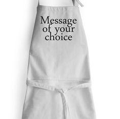 Personalized Monogram Apron High Grade Cotton Women by AmoreBeaute