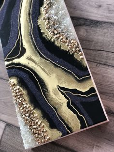 Original art inspired by the geode, made of high gloss resin, sparkles, metallics and pigments. I love the color scheme Resin Wall Art, Epoxy Resin Art, Diy Resin Art, Resin Artwork, Diy Resin Crafts, Canvas Wall Art, Resin Paintings, Acrylic Pouring Art, Acrylic Art