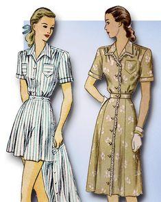 1940s Original Vintage Simplicity Pattern 2013 Uncut Play Suit & Skirt Size 39 B