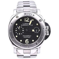 Panerai Luminor Submersible Stainless Steel Watch Ref. Stainless Steel Watch, Stainless Steel Bracelet, Panerai Automatic, Panerai Luminor Submersible, Panerai Watches, Markers, Sapphire, Crown, Crystal