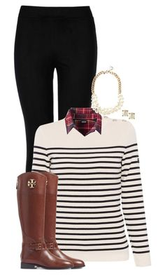 """""""wish me luck on my chem test"""" by sophiap626 ❤ liked on Polyvore featuring Wolford, Saint James, Patagonia, J.Crew, Kate Spade and Tory Burch"""