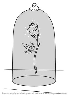 Learn How to Draw The Enchanted Rose from Beauty and the Beast (Beauty and the Beast) Step by Step : Drawing Tutorials