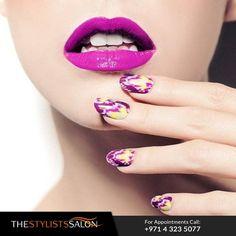 Your nails are a way to speak your style without having to say a word. Express yourself with The Stylist Salon Call: 04 3235077 الأظافر طريقة لتظهري شخصيتك بدون أن تقولي شيئاً. عبّري عن نفسك. اتصلي لحجز موعد   #nails #nailart #beautysalon #spa #beauty #mydubai #fashionista #massage #beautiful #myUAE #صالون #دبي #جمال #موضة #تسريحه #خبيرةتجميل#ستايل #فاشون #اظافر