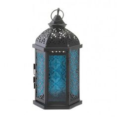 Blue Cove Candle Lantern