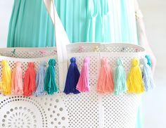 MY DIY | Pastel Tassel Beach Bag