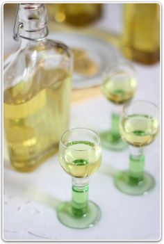 Italian Limoncello - Limoncello is a very popular digestif liqueur in Italy, where it is traditionally made from the zest of Sorrento's famed lemons. Making your own limoncello is very simple. Soak the lemon zest in vodka for a about 7 days, then strain the liquid. Add simple syrup (sugar boiled with water) to the alcohol and leave it for a few days. In 10 days with a little work you have a delicious home made Limoncello! Make sure to use the best quality organic lemons and serve ice cold…