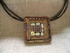 Polymer Clay homage not Klimt Klimt, Polymer Clay, Handmade Jewelry, Carving, Pendant Necklace, Acrylics, Brooches, Image, Inspiration