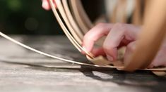 Weaving Strips of Ash for a Plaited Basket