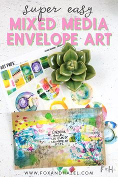 Mixed Media Envelope Art with Roben-Marie Smith Envelope Art, Envelope Design, Summer Crafts, Easy Crafts, Handwritten Letters, Addressing Envelopes, Mail Art, Paper Crafts, Diy Paper