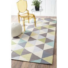 Rugs USA - Area Rugs in many styles including Contemporary, Braided, Outdoor and Flokati Shag rugs. Ooo I love this light, bright geometric rug! How To Use Pastels, Deco Pastel, Turquoise Room, Turquoise Accents, Rugs Usa, Geometric Rug, Contemporary Rugs, Online Home Decor Stores, Room Rugs