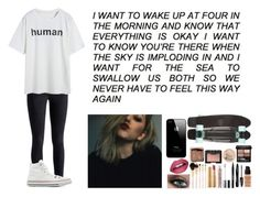 """""""i like the sad eyes bad guys, mouth full of white lies"""" by hula-hoop ❤ liked on Polyvore featuring Converse, Urban Decay, Givenchy, NARS Cosmetics, Rimmel, Stila, Lancôme, Dolce Vita, Gucci and Forever 21"""