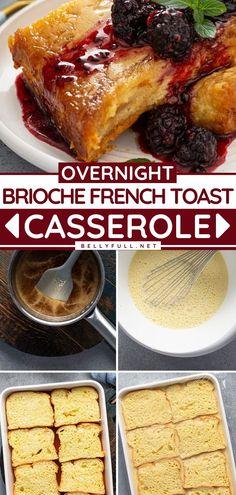 Breakfast Casserole Easy, French Toast Casserole, Easy Casserole Recipes, Savory Breakfast, Best Breakfast, Breakfast Options, Breakfast Dishes, Breakfast Time, Delicious Breakfast Recipes