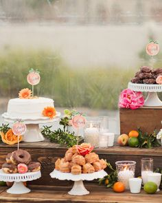 """""""We have been to so many weddings where the cake is passed around on plates and…"""